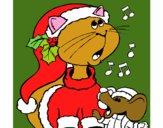 Gato y ratón navideños