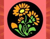 Dibujo Grabado con flores pintado por LunaLunita