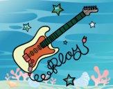 Dibujo Guitarra y estrellas pintado por sofiaviki