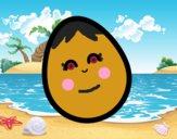 Dibujo Huevo de gallina pintado por queyla