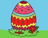 Dibujo Huevo de pascua 2 pintado por LunaLunita
