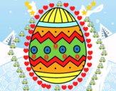Huevo de Pascua con estampados