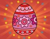 Huevo de Pascua con flores