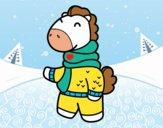 Jirafa en invierno
