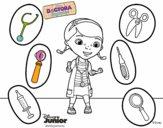 La doctora juguetes y sus instrumentos