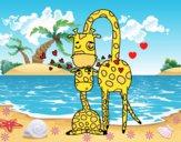 Dibujo Mamá jirafa pintado por LunaLunita