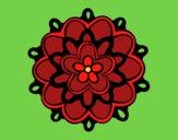 Dibujo Mándala con una flor pintado por LunaLunita