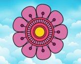 Dibujo Mandala en forma de flor pintado por LunaLunita