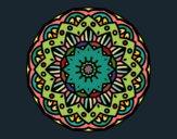 Dibujo Mandala modernista pintado por emps