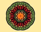 Dibujo Mandala mosaico pintado por merchindan