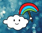 Dibujo Nube con arcoiris pintado por sergiomarc