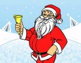 Papá Noel con campana