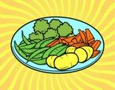 Dibujo Plato de verduras pintado por RUBI45