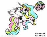 Dibujo Princess Celestia pintado por RoselenaXD