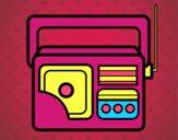 Dibujo Radio antigua pintado por AitanaPR