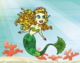 Dibujo Sirena manga pintado por MikuCat