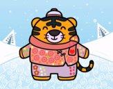 Tigre en inverno