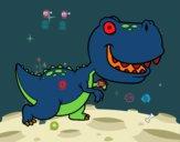 Dibujo Tyrannosaurus pintado por MerWuil
