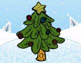Dibujo Un árbol Navidad pintado por LunaLunita