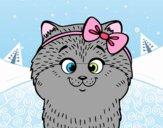 Dibujo Una gatita con lazo pintado por BFFLOVE