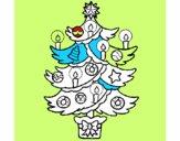 Árbol de navidad con velas