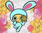 Dibujo Conejo ninja pintado por Ali2004