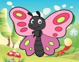 Dibujo Mariposa fantasía pintado por dulceth_07