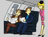Dibujo Pasajeros en el avión pintado por LunaLunita