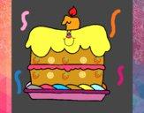 Dibujo Pastel de cumpleaños pintado por Ana54