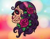 Dibujo Tatuaje de Catrina pintado por dulceth_07
