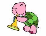 Dibujo Tortuga con trompeta pintado por lapupizlaa