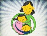 Un abrazo para mamá