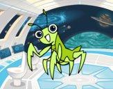 Dibujo Una mantis religiosa pintado por dulceth_07