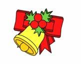 Campana de Navidad con bolas