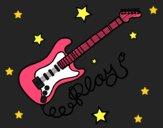 Dibujo Guitarra y estrellas pintado por valeri2003