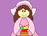 Dibujo Niña peregrina pintado por LunaLunita
