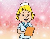 Dibujo Enfermera sonriente pintado por Arii_love