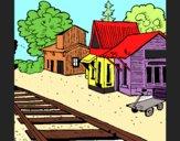 Dibujo Estación de tren pintado por gregory42