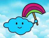 Dibujo Nube con arcoiris pintado por annisa