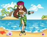 Bailarina hawaiana