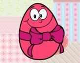 Huevo de pascua con lazo