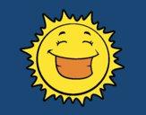 Dibujo Sol sonriendo pintado por linda423