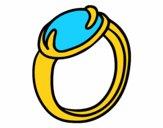 Un anillo con piedra preciosa