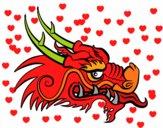 Cabeza de dragón rojo