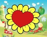 Corazón flor