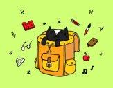 Gato dentro de una mochila