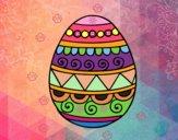 Dibujo Huevo de Pascua decorado pintado por ddelfina