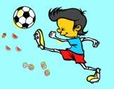 Jugador chutando