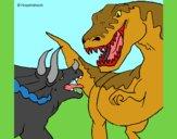 Lucha de dinosaurios