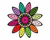 Mandala flor con pétalos